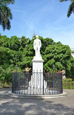 freed: HAVANA, CUBA - JULY 24, 2016: Carlos Cespedes Statue. The monument was erected to the Cuban painter who freed his slaves and made the declaration of Cuban independence in 1868.