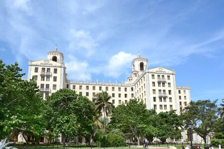 HAVANA, CUBA - JULY 21, 2016: Hotel Nacional de Cuba. Together with Havanas old town the hotel was listed as a UNESCO World Heritage Site in 1982.