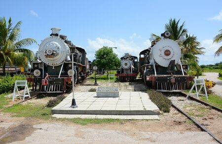 REMEDIOS, CUBA - JULY 27, 2016: The Museum of Sugar Industry and Museum of Steam at Remedios, is an old Cuban sugar mill with its own railway. Editorial