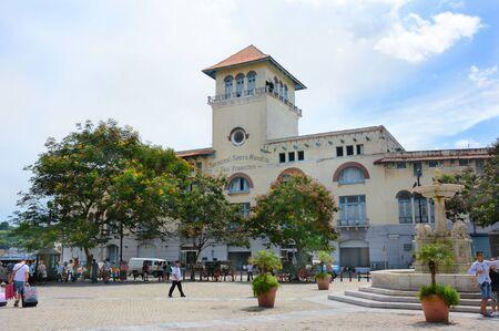 vieja: HAVANA, CUBA - JULY 21, 2016: Terminal Sierra Maestra cruise terminal, Avenida del Puerto, Old Havana (La Habana Vieja), Cuba.