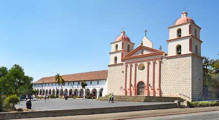 SANTA BARBARA, CALIFORNIA - SEPTEMBER 21, 2016: Mission Santa Barbara. The 10th mission was founded on 1241786, the feast day of Saint Barbara.