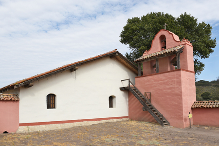 LOMPOC, CALIFORNIA - SEPTEMBER 21, 2016: Mission La Purisima bell tower. La Purisima was the eleventh mission of the twenty-one Spanish Missions and most restored to date. Editorial