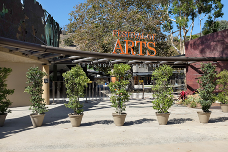 venue: LAGUNA BEACH, CALIFORNIA - OCTOBER 3, 2016: Festival of the Arts. The venue hosts the annual Pageant of the Masters, where live performers pose in recreations of famous painting.