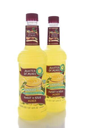 marketers: IRVINE, CALIFORNIA - JANUARY 13, 2017: Master of Mixes Sweet and Sour Mix. From American Beverage Marketers, makers of a wide variety of beverage mixers.