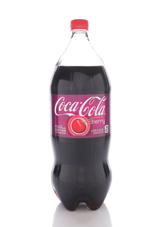coke bottle: IRVINE, CALIFORNIA - JANUARY 13, 2017: Coca-Cola Cherry. Introduced in 1985 it is a cherry-flavored version of Coca-Cola. Editorial