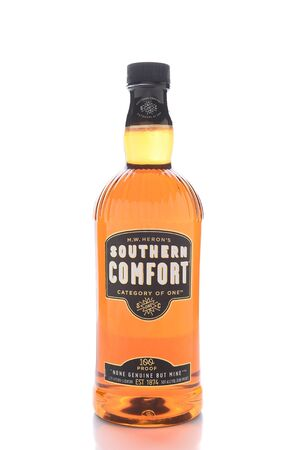 IRVINE, CALIFORNIA - JANUARY 13, 2017: Southern Comfort. First produced in 1874 at McCauleys Tavern in the French Quarter of New Orleans, Louisiana.