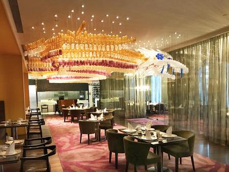 MUMBAI, INDIA - JANUARY 14, 2017: Taj Santacruz Hotel China Inc Restaurant. The luxury hotel is near the Chhatrapati Shivaji International Airport. Editorial
