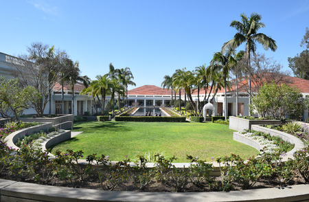 linda: YORBA LINDA, CALIFORNIA - FEBRUARY 24, 2017: Grounds at the Richard Nixon Library and Birthplace. The presidential library and museum and final resting place of the 37th president.