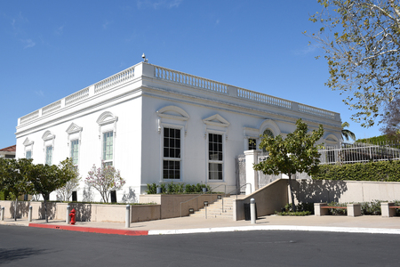 linda: YORBA LINDA, CALIFORNIA - FEBRUARY 24, 2017: White House East Room Replica at the Richard Nixon Library and Birthplace. The site is also the final resting place of the 37th president. Editorial