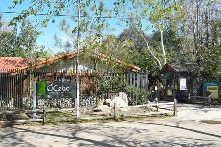 oc: ORANGE, CALIFORNIA - FEBRUARY 24, 2017: OC Zoo at Irvine Regional Park. The park was founded on land donated by James Irvine, it is the oldest regional park in California.