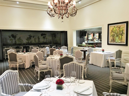 GUAYAQUIL, ECUADOR - FEBRUARY 15, 2017:  Oro Verde Hotel Le Gourmet Restaurant. Recognized as one of the best restaurants in Ecuador, offering contemporary cuisine.