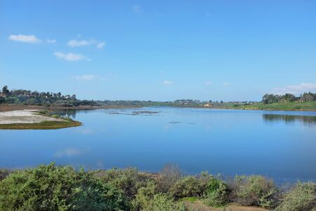 Upper Newport Back Bay seen from the top end looking toward the West.