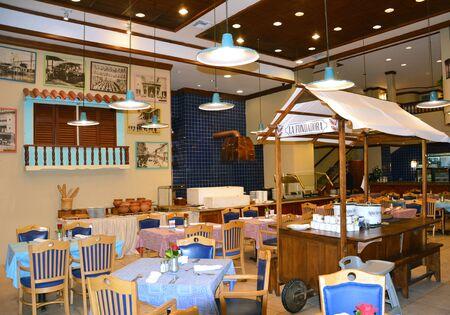 GUAYAQUIL, ECUADOR - FEBRUARY 15, 2017: Unicafe. On the ground floor of the Unipark Hotel, it offers varied menu of Ecuadorian cuisine and classics of international cuisine. Redakční