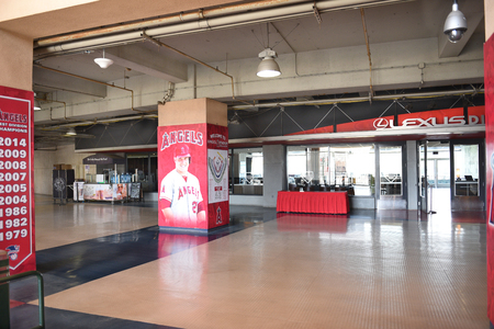 orange county: ANAHEIM, CA - MARCH 17, 2017: Angel Stadium Lexus Diamond Club Lounge at the Home Plate Entrance. In Orange County the stadium is the home of MLBs Los Angeles Angels of Anaheim.