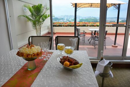 GUAYAQUIL, ECUADOR - FEBRUARY 15, 2017: Wyndham Guayaquil Hotel. The hotel is situated just steps from the historic Santa Ana Hill and its famous Lighthouse.