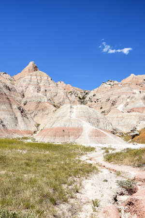 Landscape in the Badlands National Park, South Dakota. Stock Photo