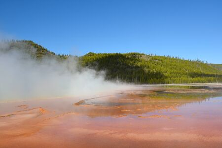 third world: Grand Prismatic Spring, at Midway Geyser Basin, in Yellowstone National Park is the largest hot spring in the United States, and the third largest in the world.