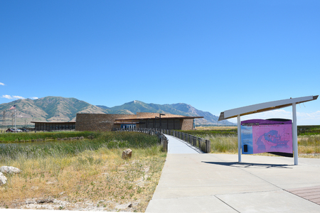 BRIGHAM CITY, UTAH - JUNE 28, 2017: Bear River Migratory Bird Refuge visitor center. The refuge encompasses the Bear River and its delta where it flows into the northern part of the Great Salt Lake. Editorial