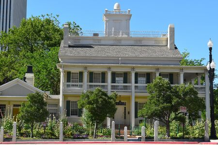 lds: SALT LAKE CITY, UTAH - JUNE 28, 2017: Beehive House. Built in 1854 the house was the official residence of Brigham Young.