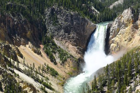 The Lower Falls of the Grand Canyon of the Yellowstone River, Yellowstone National Park, Wyoming.