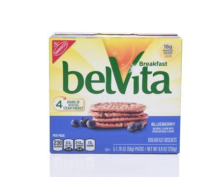 얼바인, 캘리포니아 -9 월 22 일, 2017 : BelVita 블루 베리 아침 비스킷. Nabisco에서 바삭 바삭한 nutritiuos 아침 비스킷 라인.