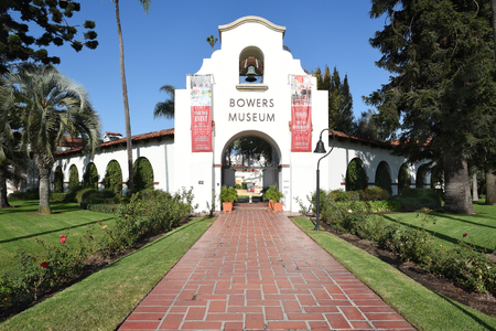 SANTA ANA, CA - NOVEM,BER 11, 2017: Bowers Museum. The Bowers Museum is one of Californias finest and Orange Countys largest museums.