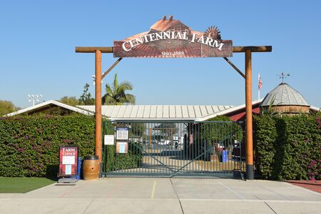 COSTA MESA, CA - DEC 1, 2017: Centennial Farm at the OC Fair and Event Center. Created to educate youth about agriculture and its importance to our daily lives. Editorial