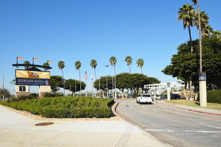 COSTA MESA, CA - DEC 1, 2017: OC Fair and Event Center main gate. The site hosts over 150 events attracting 4.3 million visitors annually. Editorial