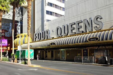 LAS VEGAS - DECEMBER 7, 2017: The Four Queens Hotel and Casino. One of the four Casino Hotels that make up the Freemont Street Experience. Redakční