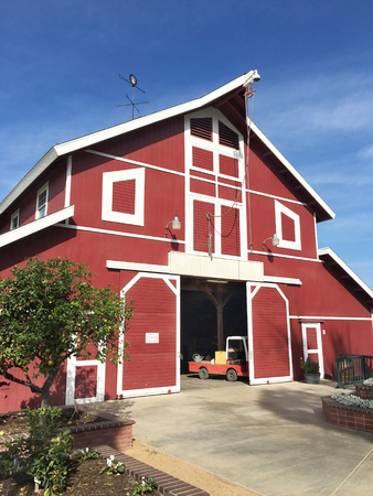 COSTA MESA, CA - JANUARY 7, 2018: Millennium Barn at the OC Fair and Event Center. Created to educate youth about agriculture and its importance to our daily lives.