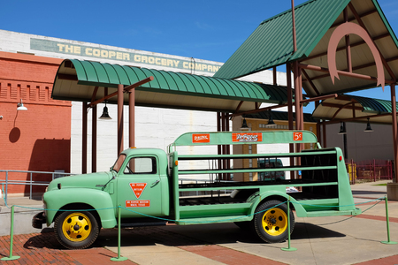 WACO, TEXAS - MARCH 19, 2018: Antique delivery truck at the Dr Pepper Museum and Free Enterprise Institute. Editorial