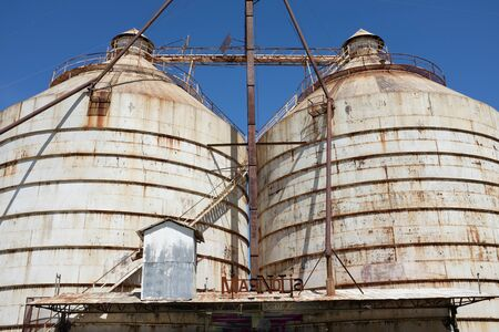 WACO, TEXAS - MARCH 19, 2018: The Silos at Magnolia Market. The shop is owned by Chip and Joanna Ggaines stars of HGTV's Fixer Upper.