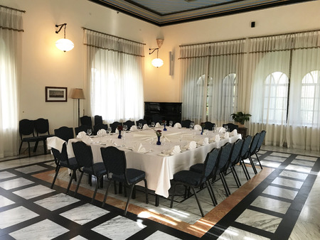 JERUSALEM, MAY 9, 2018: The Pasha Room at the American Colony Hotel. The historic building previously housed the utopian American-Swedish community known as the American Colony.