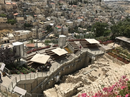 JERUSALEM - JUNE 10, 2018: City of David Excavation Site. Archeological finds and dig site ae constantly being discovered in and around jerusalem. 에디토리얼