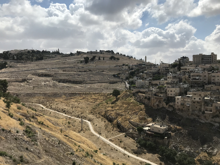 JERUSALEM - JUNE 10, 2018: City of David Excavation Site. Archeological finds and dig site ae constantly being discovered in and around jerusalem. 新聞圖片