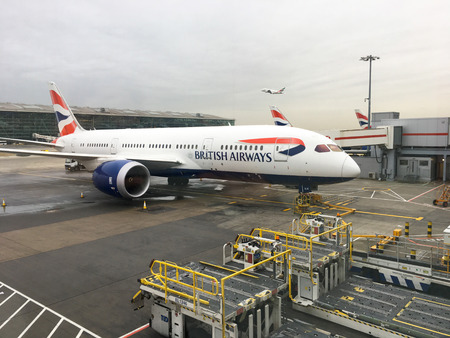 BANGKOK, THAILAND - JANUARY 22, 2017: British Airways Jet on the tarmac at Suvarnabhumi Airport.