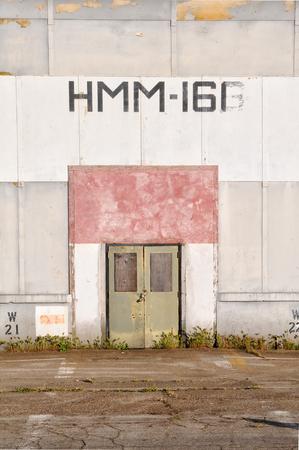 TUSTIN, CALIFORNIA: APRIL 15, 2013: Blimp Hangar detail at the former US Marine Corps Air Station, Tustin.