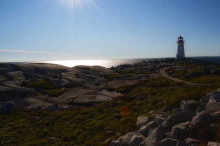 Peggys Point Lighthouse, also known as Peggys Cove Lighthouse, is an active lighthouse in Nova Scotia and one of the busiest tourist attractions in the province.