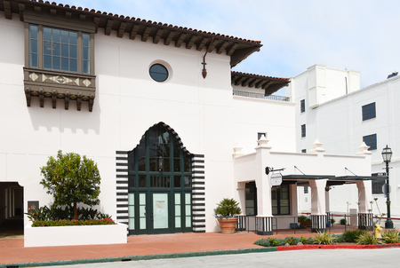 SANTA BARBARA, CALIFORNIA - APRIL 11, 2019: The Margerum Winery Tasting Room in the Hotel Californian.
