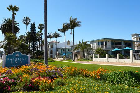 SANTA BARBARA, CALIFORNIA - APRIL 11, 2019:  Cabrillo Inn at the Beach is a half-mile from the Santa Barbara Zoo and a mile from Stearns Wharf.