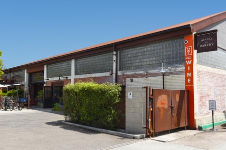 SANTA BARBARA, CALIFORNIA - APRIL 11, 2019: Helena Avenue Bakery and the Santa Barbara Wine Collective located in the Funk Zone neighborhood. Editorial