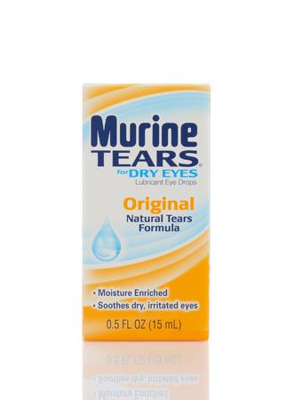 IRVINE, CALIFORNIA - MAY 22, 2019:  Murine Tears for Dry Eyes, Original Natural Tears Formula. Redactioneel