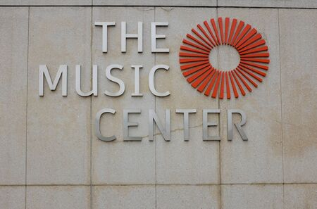 LOS ANGELES, SEPT 2, 2018: The Music Center Sign on the Dorothy Chandler Pavilion.