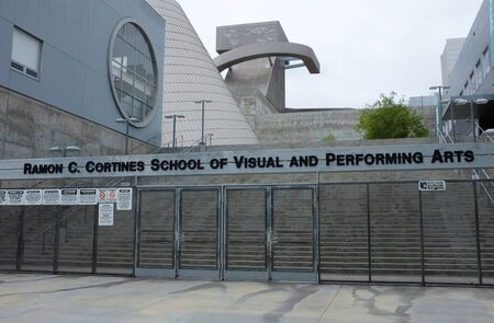 LOS ANGELES - SEPT 2, 2018: The Ramon C. Cortines School of Visual and Performing Arts is a magnet, public high school in the Los Angeles Unified School District.