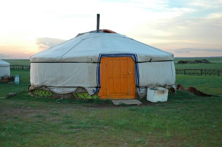 KARAKORUM, MONGOLIA - June 29, 2006: The Urguu Ger Camp in Mongolias Gobi Desert.