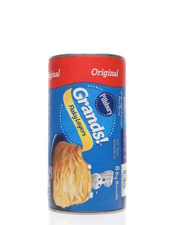 IRVINE, CALIFORNIA - AUGUST 14, 2019: A can of Pillsbury Grands biscuits Original Flavor.
