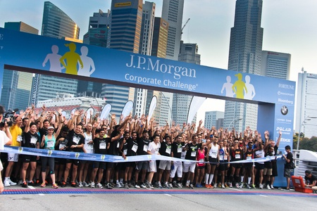 Singapore - April 21, 2011 - JP Morgan Corporate Challenge Run 2011