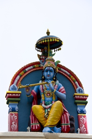 Krishna Statue at the Sri Mariamman Temple, Singapore Stock Photo
