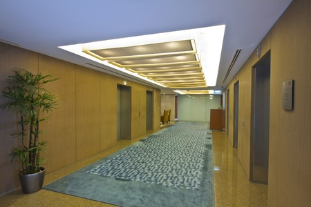 Lift lobby / reception interior area at some modern office Stock Photo - 10912091