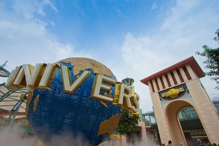amusment: Singapore - 18 Sept 2011 Universal Studios Singapore Globe Editorial